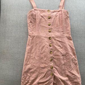 Aeropostale Pink Dress Square Neck Button Down